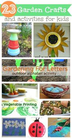 Garden theme crafts and activities for kids.