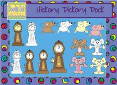 Hickory Dickory Dock Clip Art! To purchase