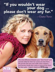 Charlize Theron PETA ad....Love PETA!