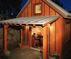Tiny 420 Square Foot Sustainable Backyard Cottage -   I want a backyard cottage!