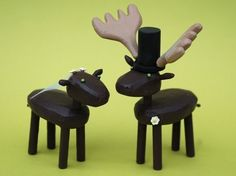 moose wedding cake toppers from bunnywithatoolbelt.com