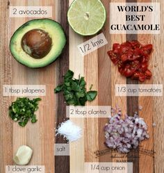 Who doesn't love guacamole? And seriously, it's totally against my MO to call something I made the world's best, but I think that the secret to guacamole is to make it yourself using the freshest of ingredients. So do it. Make everyone at your Superbowl party happy (even the kids!) and forgo the store bought guacamole. It's so simple to make (this version took me five minutes) assuming you can use a knife and a fork. We are lucky in California that we have a steady supply of perfect avocados almost year round. When you're at the store, try to pick an avocado that feels heavy. According to The Kitchn, you should look at the little button at the end. If it's green underneath, you're good to go. If it's brown, your avocado will be overripe and a slimy mess. We like our dip chunky and full of fresh ingredients. The great thing about guac is you can totally just change up the quantity or the ingredients based on your own taste preferences. I'll never understand the cilantro haters out there, but if cilantro tastes like soap to you, go ahead and leave it out. So here it is. Everything you need to make the world's best guacamole. Just dice it up, smash it all together with a fork, and serve. WHAT YOU NEED * 2 avocados * 1/3 cup diced tomatoes * 1/4 cup chopped red onion * 2 tbsp roughly chopped cilantro * 1 tbsp minced jalapeno * 1 clove minced garlic * juice of 1/2 a lime (more or less to taste) * salt to taste WHAT YOU DO Mix it in a bowl and serve with chips. Or on a guacamole grilled cheese. Or on toasted garlic bread. (Sometimes I just eat it with a spoon. IT'S THAT GOOD). Happy Super Bowl Watching. Go Broncos.