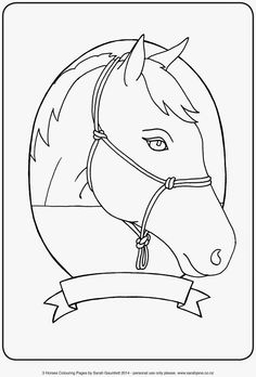 FaerySarah: Horse Colouring Pages ~ A Gift for you for Mother's Day