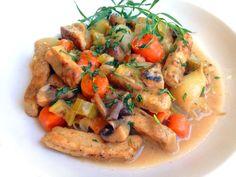 Healthy Vegan Chicken Fricassee with Tarragon
