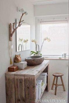 Marktplaats.nl > Steigerhout meubelen: badkamermeubel, wastafelmeubel - Huis en Inrichting - Badkamer   Badkamermeubels