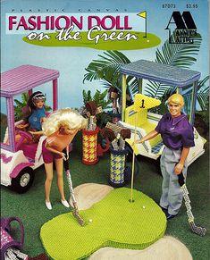 Fashion Doll on the Green Plastic Canvas by grammysyarngarden, $18.00