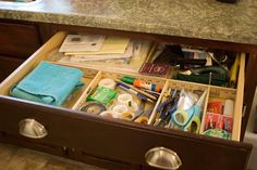 tidy junk drawer with help from Lowe's