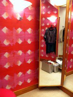 ikat fabric wallcovering