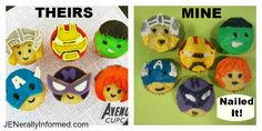 JENerally Informed: Nailed It Challenge: Avengers Cupcakes