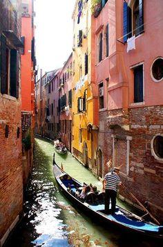 Venice on a gondola