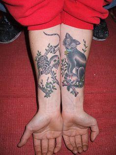 Cat Tattoo by Tattoo Expert, via Flickr #cat #tattoo