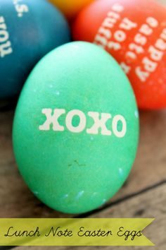 Love this idea for Lunch Note Easter Eggs. Hubby would love this! { lilluna.com }