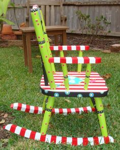 At least one hand painted piece of furniture is a must for every child's room.