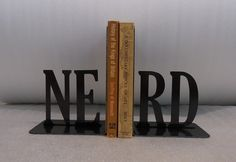 Gorgeous bookends from Knob Creek Metal Arts
