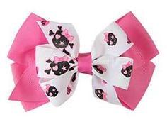 hairbow, bow tutorial, skull, kinda bow, craft idea, bing imag, hair bows, free hair, bow instruct
