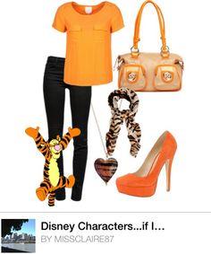 Disney inspired fashion...if I were tigger...:)