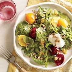 Marinated Beet Salad | Cooking Light #myplate #dairy #veggies #fruit