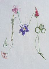 Field flowers alphabet - M – French Needlework Kits, Cross Stitch, Embroidery, Sophie Digard – The French Needle