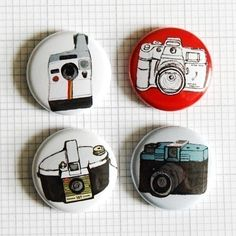 CAMERA Buttons Badges dads coat