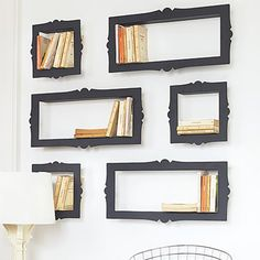 Picture Frame Bookshelf (http://blog.hgtv.com/design/2013/07/22/daily-delight-picture-frame-bookshelves/?soc=pinterest)