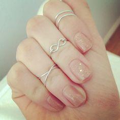 DIY knuckle rings