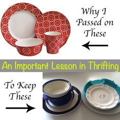 How to thrift shop.  A great read to prioritize wants and needs and to decide if you really need something!  #thrifting #simplicity #reducingclutter #organizing
