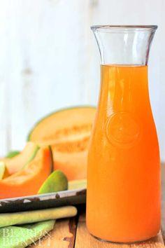Cantaloupe and lime agua fresca