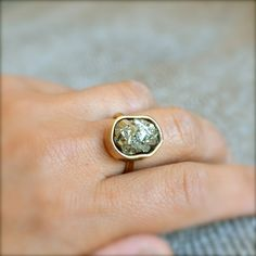 {Pyrite Gold Ring}