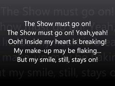 Queen - The Show Must Go On - Lyrics
