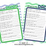 {Father's Day Questionaire & Free Printable}