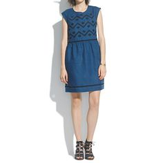 Madewell - Indigo Linen Sandwave Dress