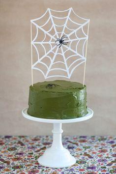 Spider Web Cake Topper DIY