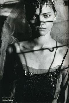 """Just Married"". Sasha Pivovarova photographed by Peter Lindbergh"