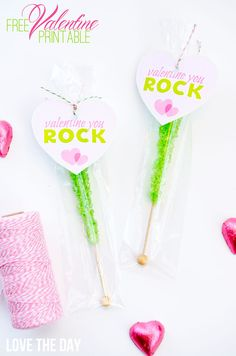 FREE 'You Rock' Valentine Tag by Love The Day
