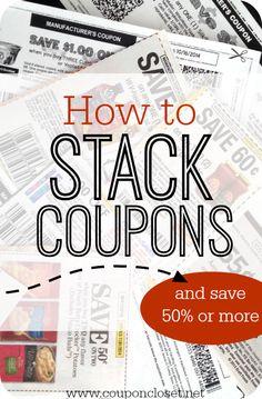 How to Stack Coupons - Coupon Closet