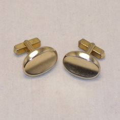 Mid Century Cuff Links Vintage 1960s ANSON Gold Tone by SwaggerMan, $14.50