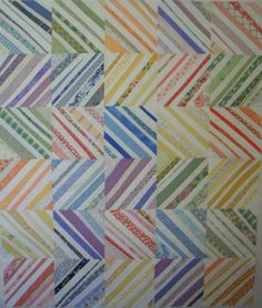 """Too cute """"Fruit Stripe Gum Quilt"""" by Cherri of Cherry House Quilts. Great use of scraps"""