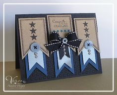 layered banners graduation card by Amber Hight