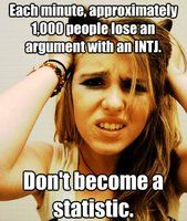 INTJ Poster: Don't Become a Statistic by PeterAlexander2014
