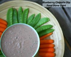 Sweet & Spicy - the perfect healthy dip - Blueberry Chipotle Dip www.fooddonelight.com #healthysnack #healthydip #yogurtdip