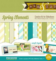 Free spring backgrounds, text overlays and more for your ProShow photo slideshows! Download here: http://www.slideshowblog.com/2013/02/free-creative-kit-for-spring-slideshows/