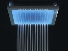 Shower lights, showers, new houses, shower heads, colors, shower time, dream shower, bathroom, design