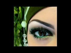 Smokey green makeup tutorial
