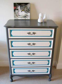 blue & gray dresser