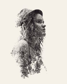 We Are Nature – Multiple Exposure Portraits Vol. II by Christoffer Relander, via Behance //
