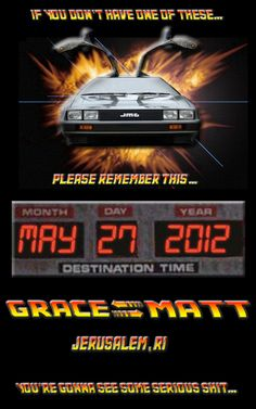 OMG...  Back to the Future themed save the dates!  I'm pretty sure I'd never do this, but I will admit it's pretty freakin' sweet!