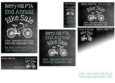 Bike Sale - Published PTA Templates and Poster Kits