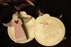 angel ornaments by Erin Lincoln - Procrastination Station: Love Lives Here for the Holidays