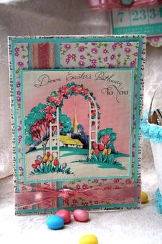 Card using the Vintage Easter Kit