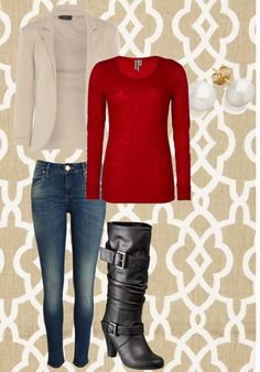 """Simple Christmas Outfit"" by peculiarapple on Polyvore"